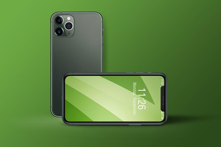 APP UI界面设计展示苹果iPhone 11 Pro手机PSD样机模板 iPhone 11 Pro插图(3)