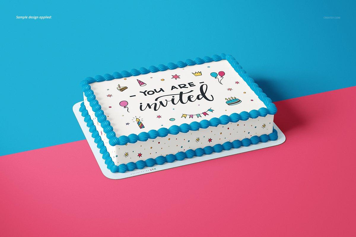 食用蛋糕礼帽外观设计效果图样机模板合集 Edible Cake Topper Mockup Set插图(4)
