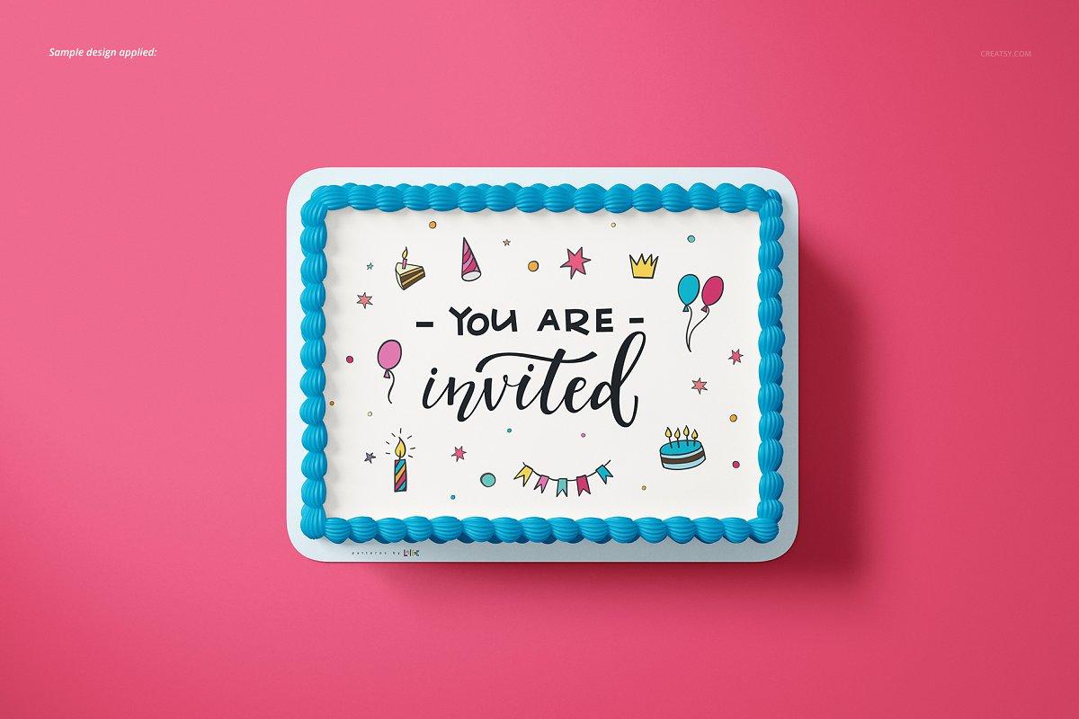 食用蛋糕礼帽外观设计效果图样机模板合集 Edible Cake Topper Mockup Set插图(5)