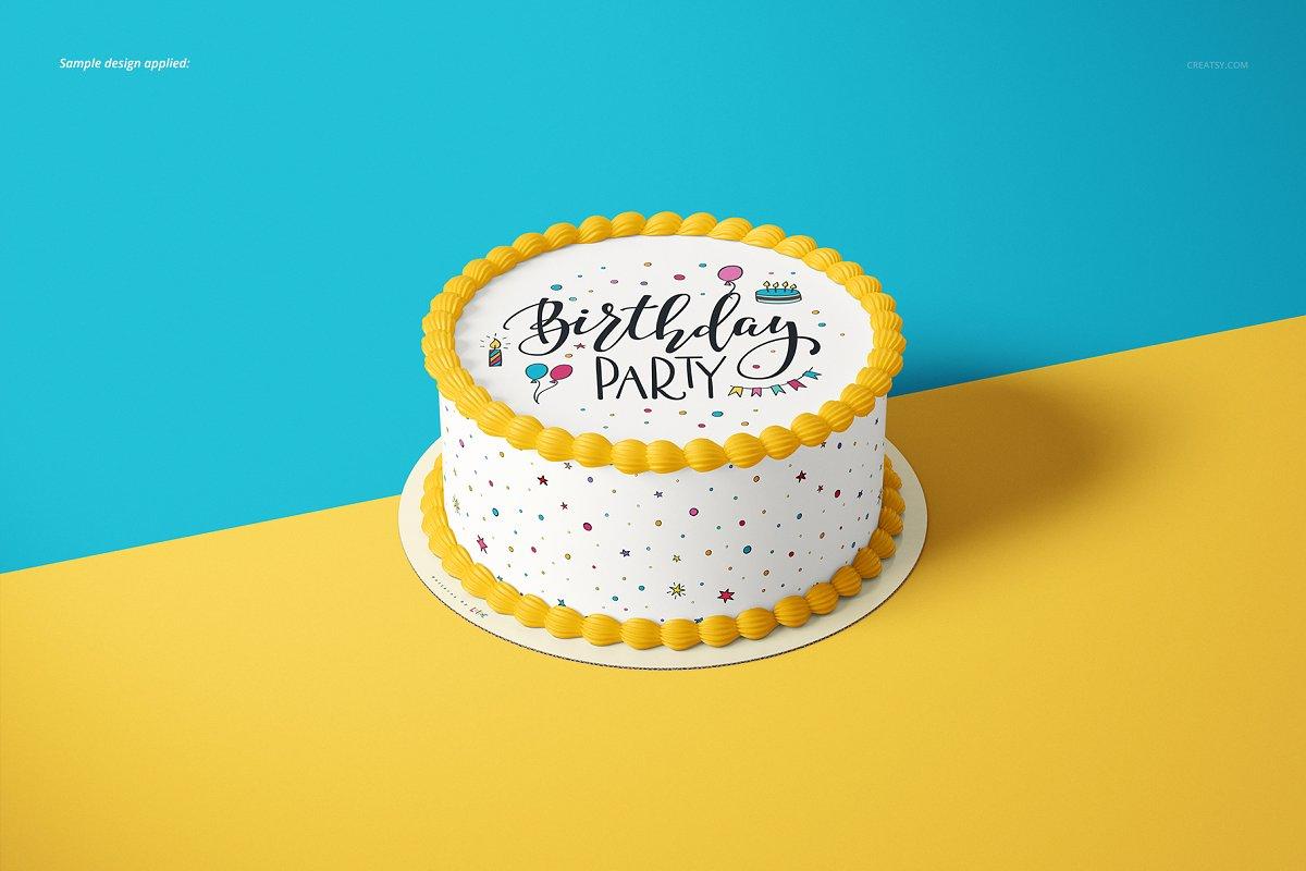 食用蛋糕礼帽外观设计效果图样机模板合集 Edible Cake Topper Mockup Set插图(6)