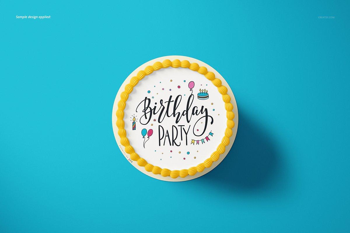 食用蛋糕礼帽外观设计效果图样机模板合集 Edible Cake Topper Mockup Set插图(7)
