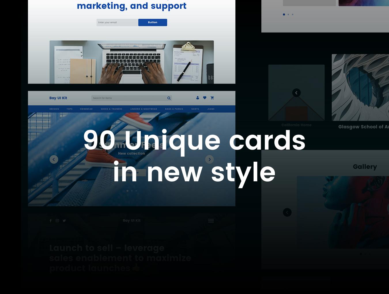 现代简约摄影设计工作室WEB网站UI界面设计模板 Bay UI Kit插图(3)