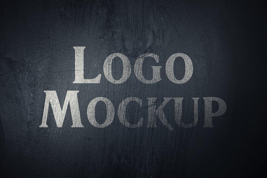 逼真LOGO设计效果图样机模板 Grange Logo Mockup插图(4)
