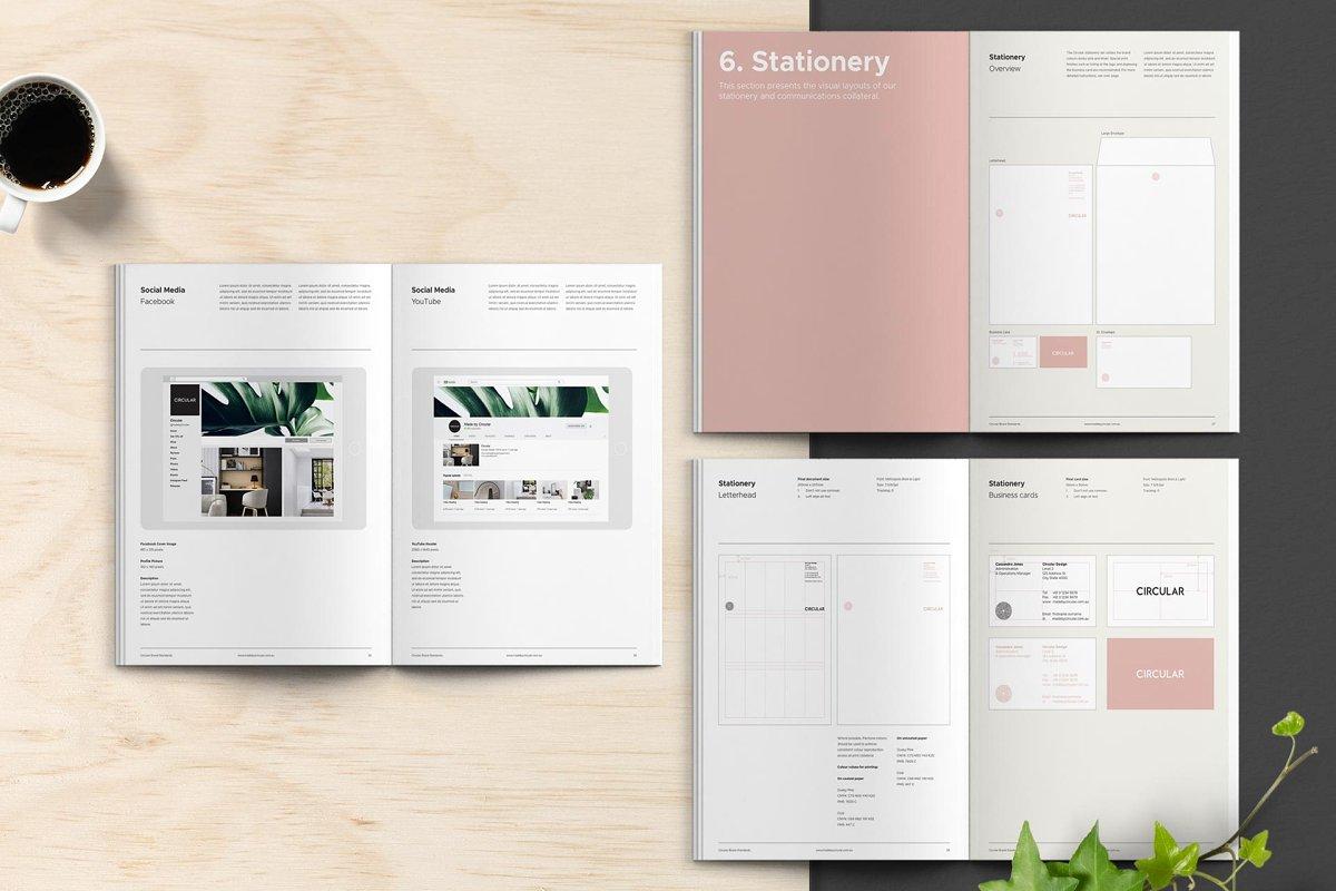 极简主义企业品牌规范VI手册设计INDD模板 SANTONA / Brand Guidelines插图(4)