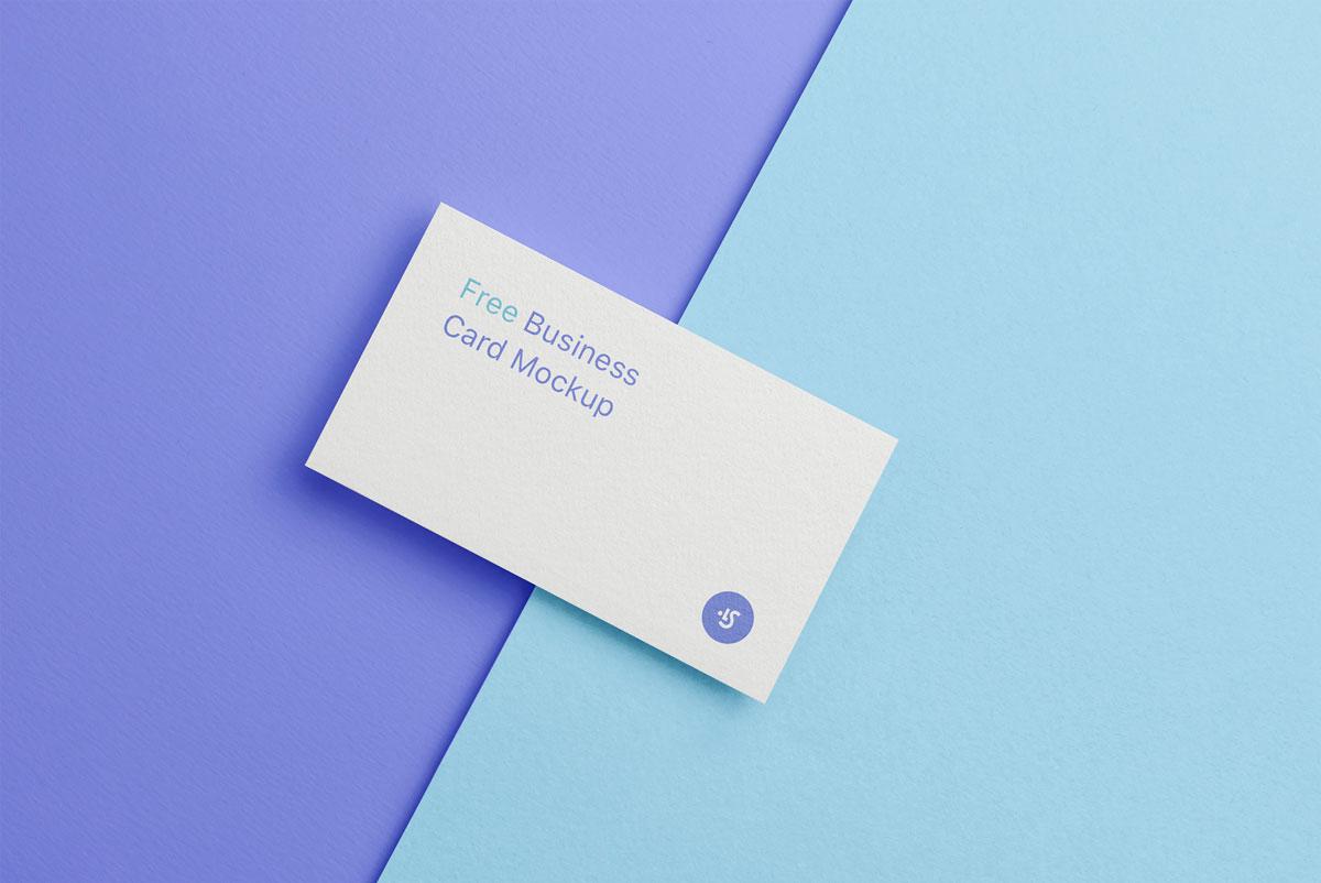 企业品牌设计商务名片展示样机模板 Business Card Mockup插图(1)
