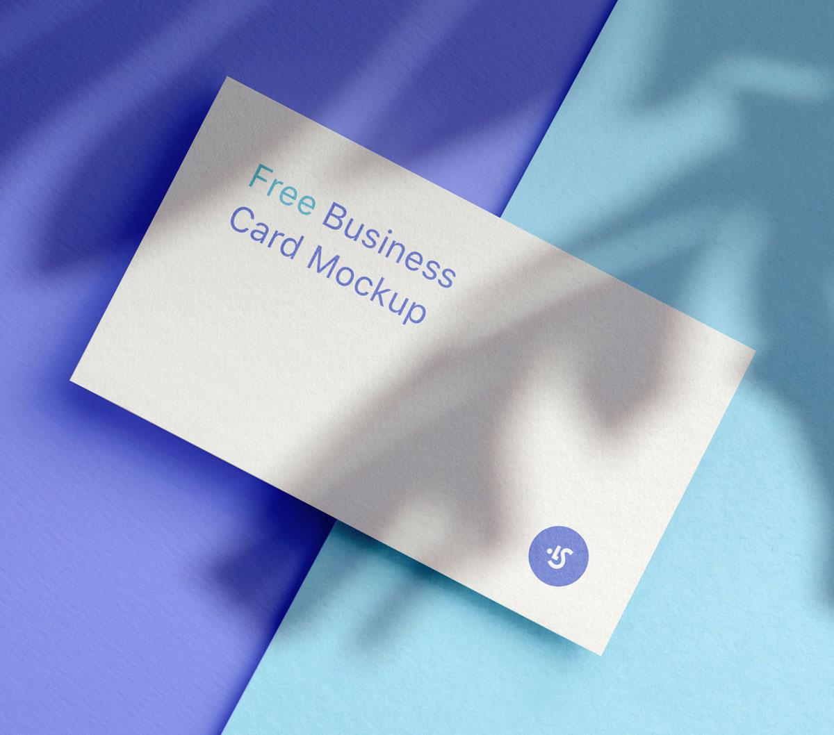 企业品牌设计商务名片展示样机模板 Business Card Mockup插图