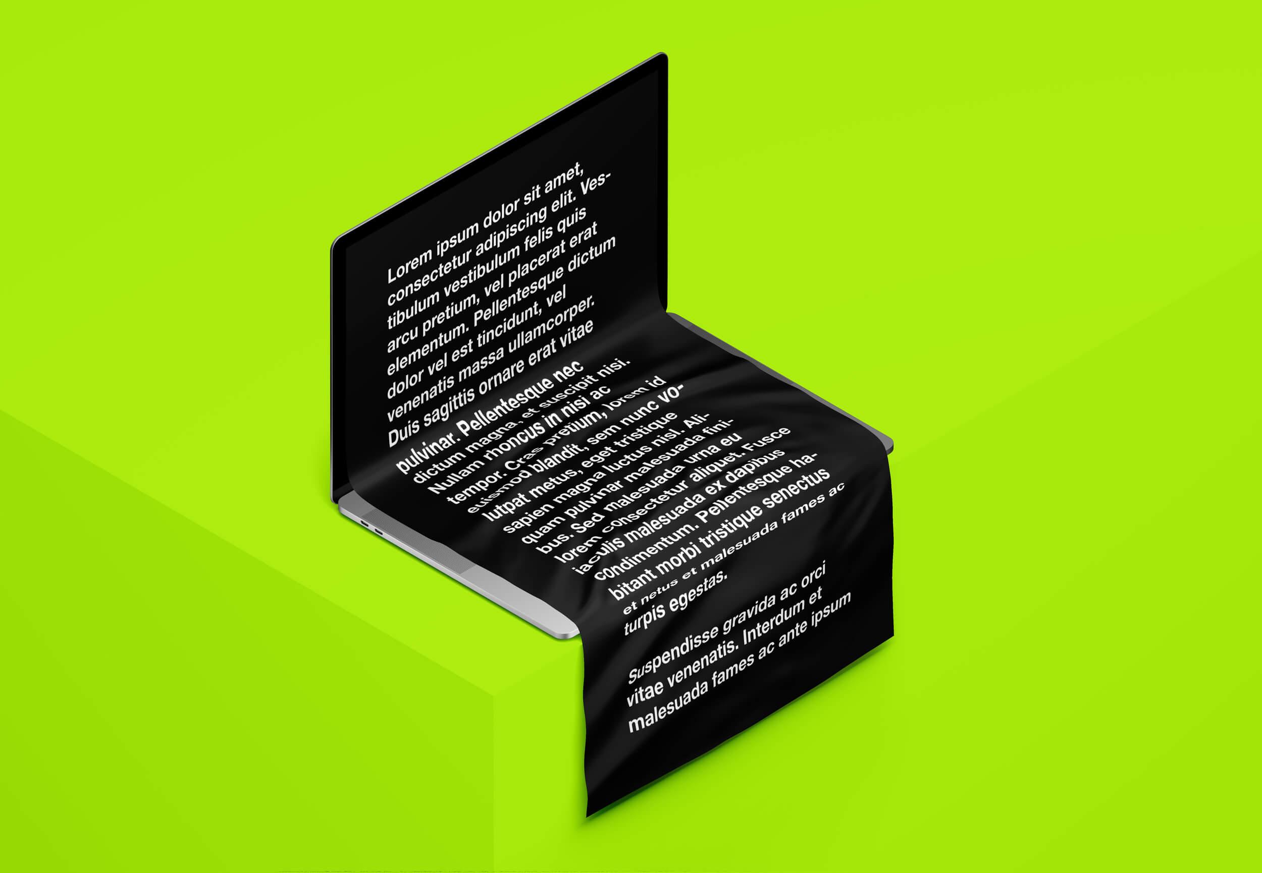 网页着陆页设计演示等距MacBook Pro苹果笔记本样机模板 MacBook Long Scroll Mockup插图(3)