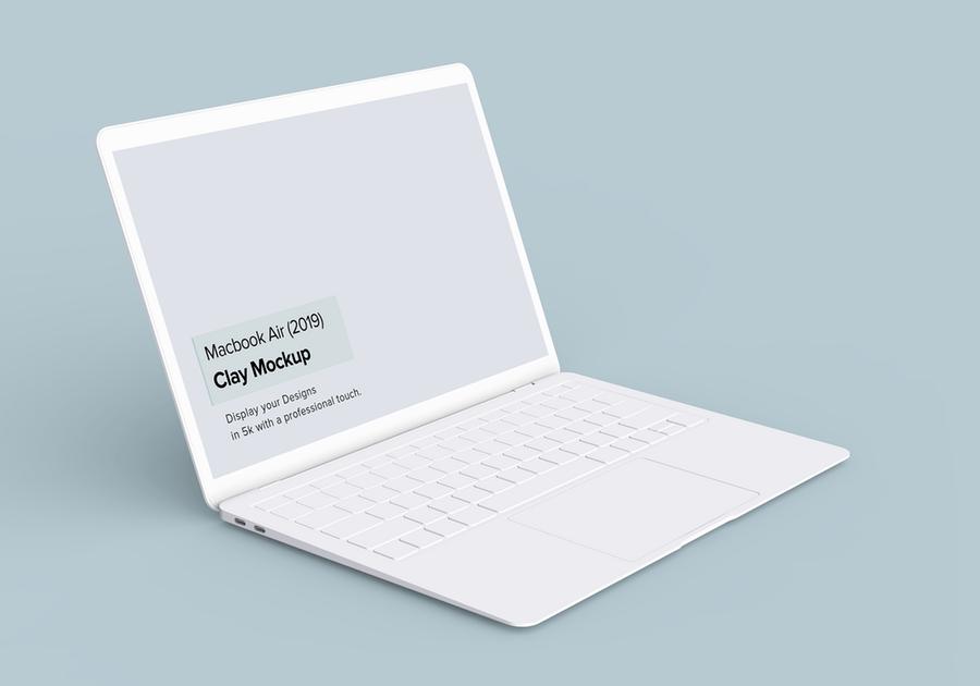 2019全新陶瓷Macbook Air苹果笔记本电脑样机模板 Minimal Macbook Air Mockup插图(5)