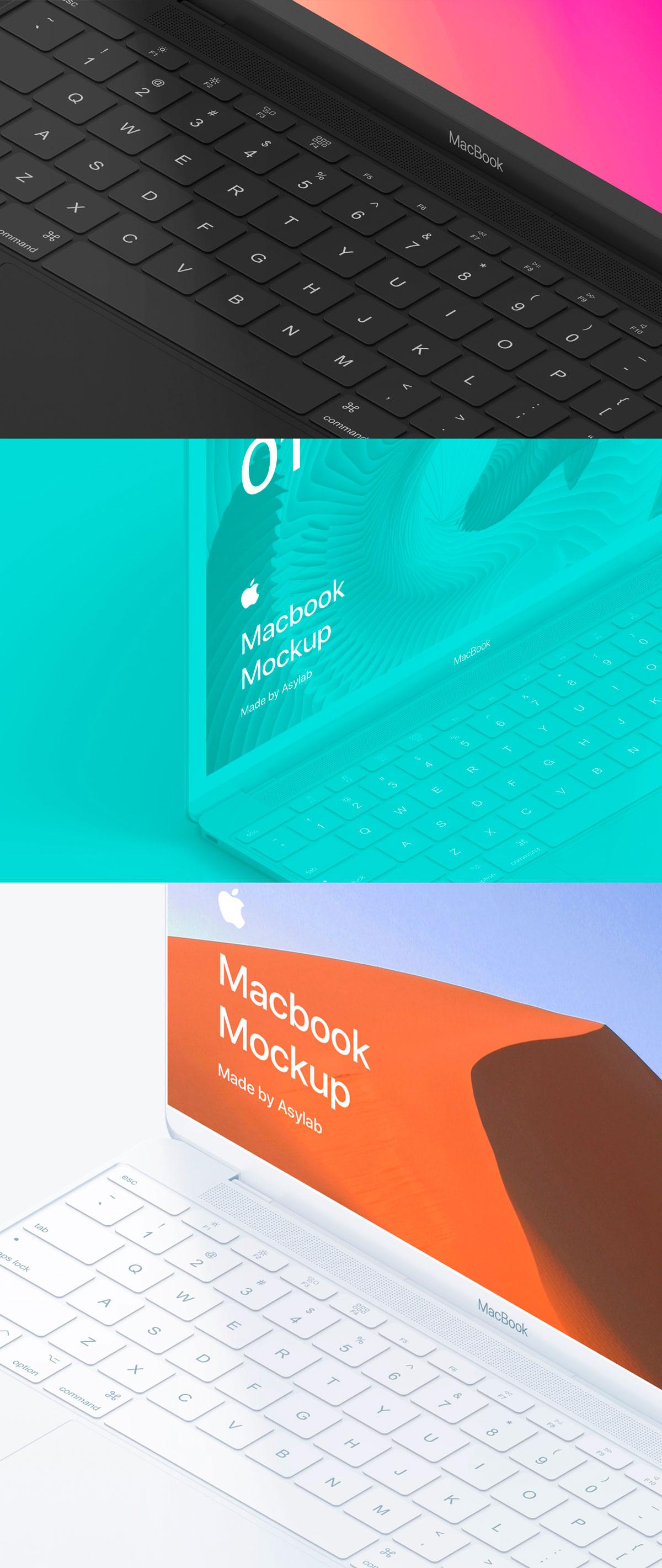 自适应网页设计等距Macbook 2018&iPhone XS展示样机模板 Macbook 10 Isometric插图(6)