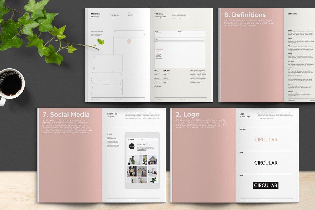 极简主义企业品牌规范VI手册设计INDD模板 SANTONA / Brand Guidelines插图(6)
