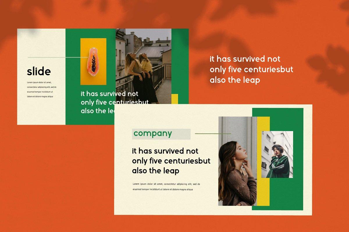 时尚潮流服装摄影作品集PPT演示文稿设计模板 Sunflower – Powerpoint插图(5)