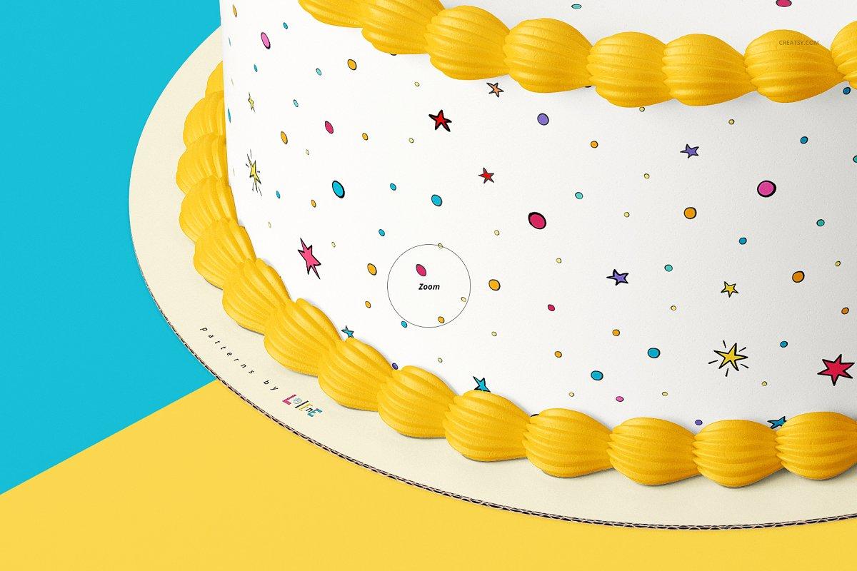 食用蛋糕礼帽外观设计效果图样机模板合集 Edible Cake Topper Mockup Set插图(9)
