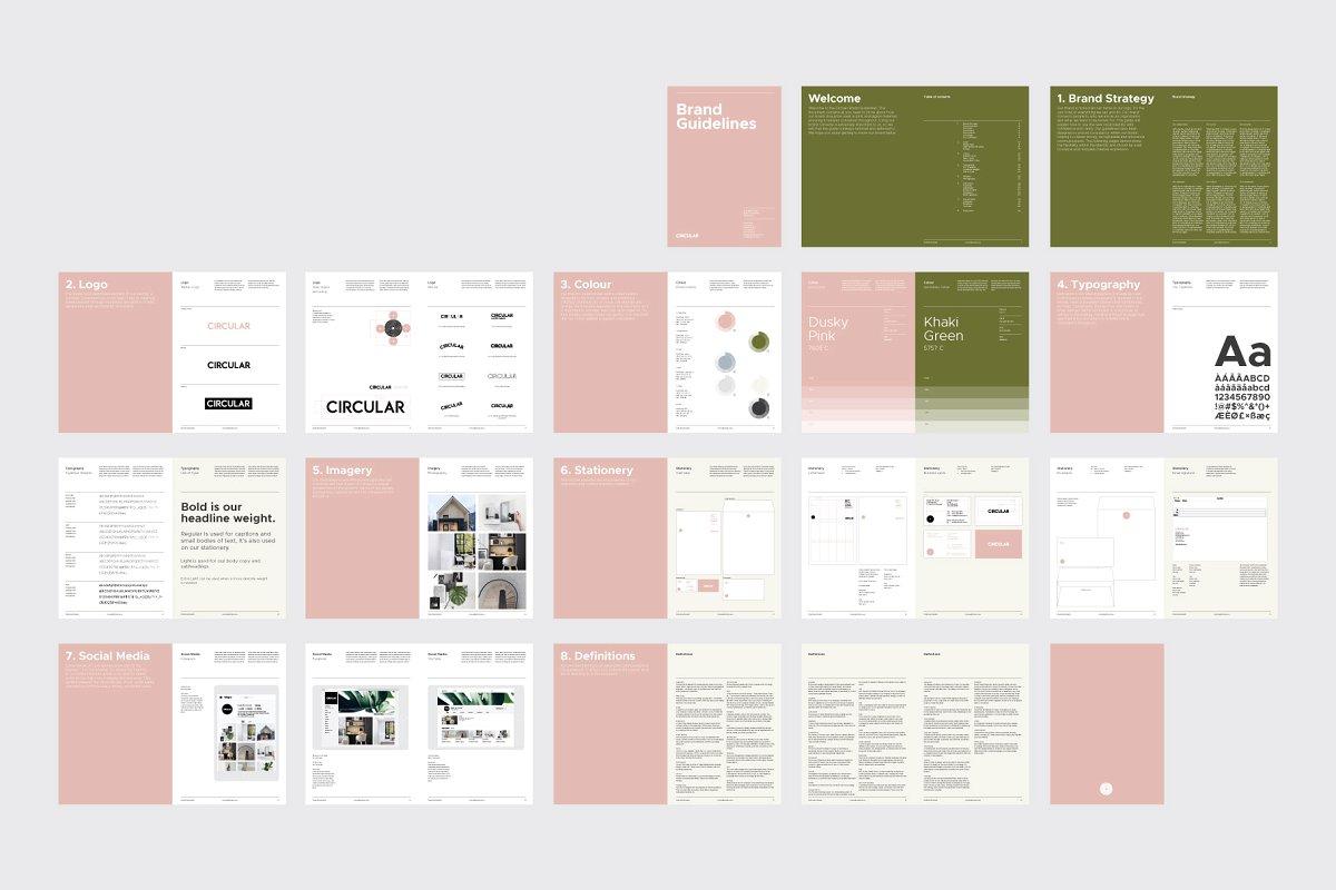 极简主义企业品牌规范VI手册设计INDD模板 SANTONA / Brand Guidelines插图(7)