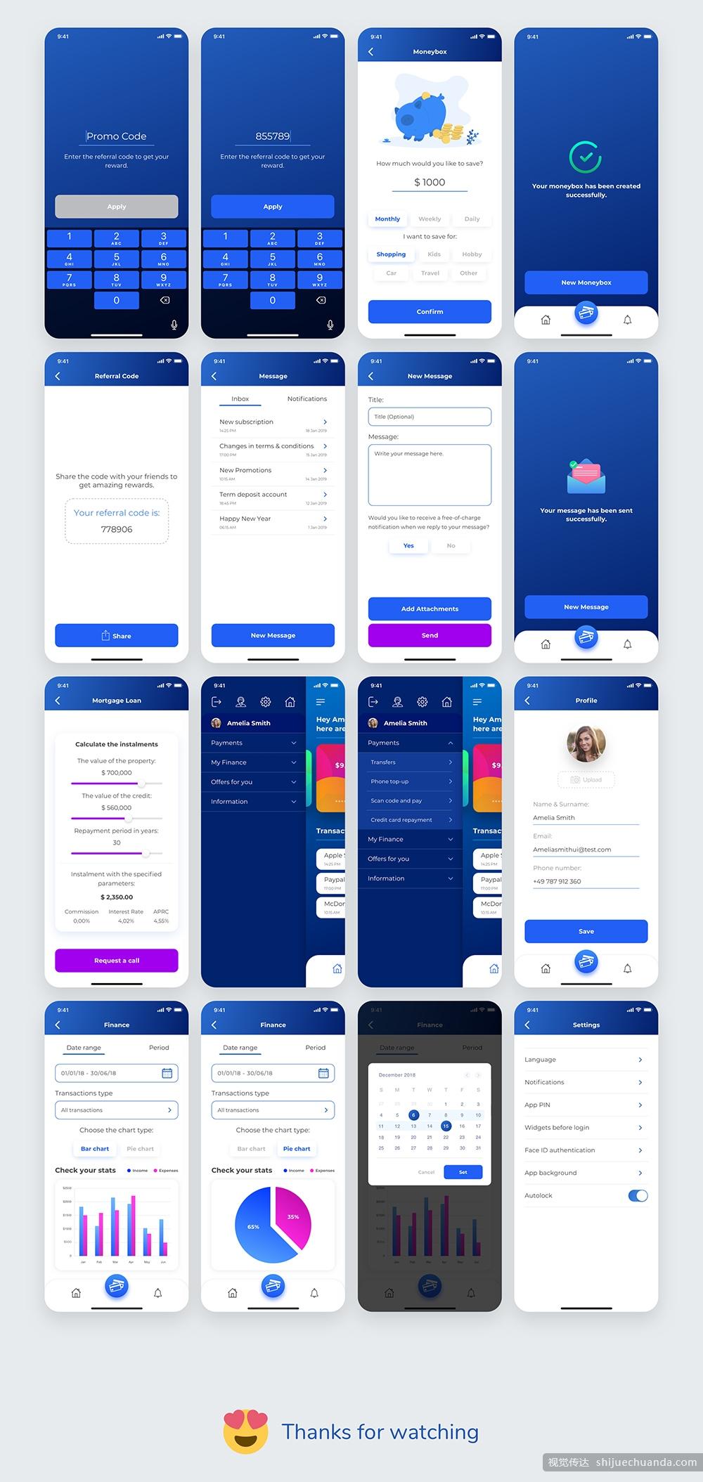 现代全面支付钱包应用UI界面设计工具包 Payment App UI Kit插图(2)