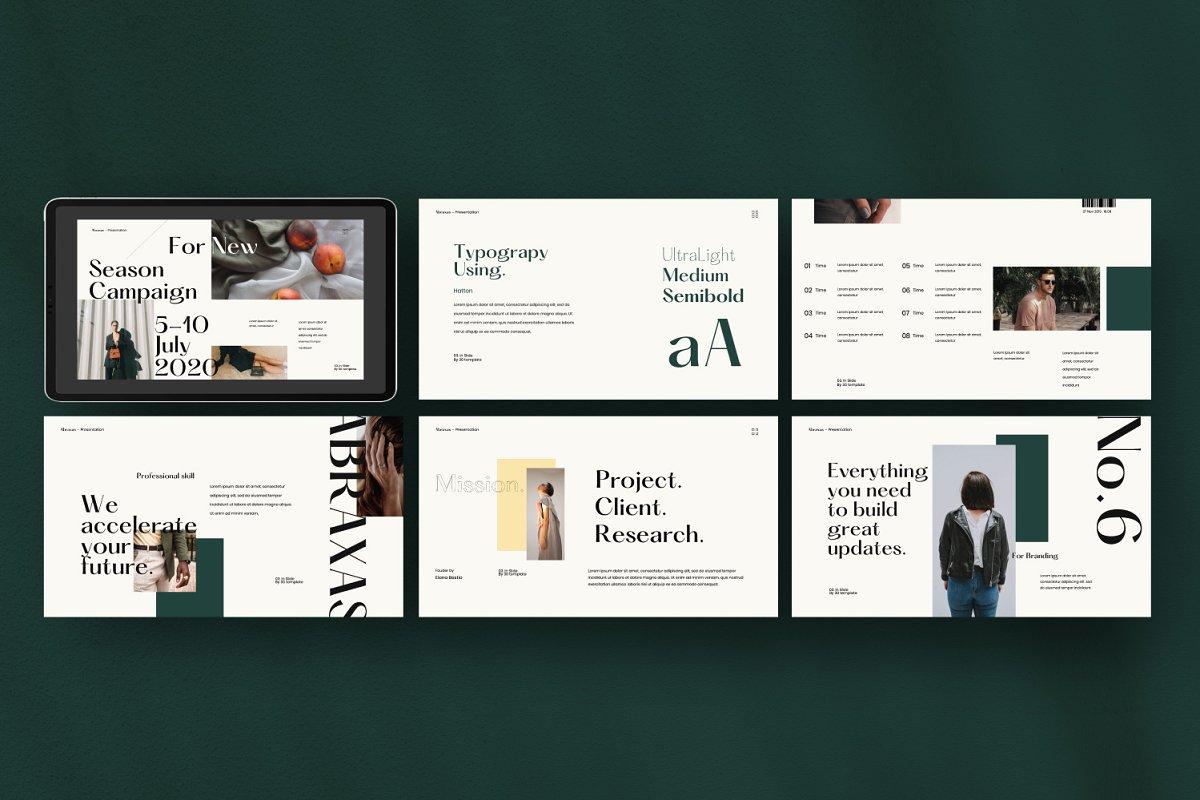 时尚简约服装品牌规范VIS设计幻灯片模板 Abraxas – Brand Guidline Keynote插图(6)