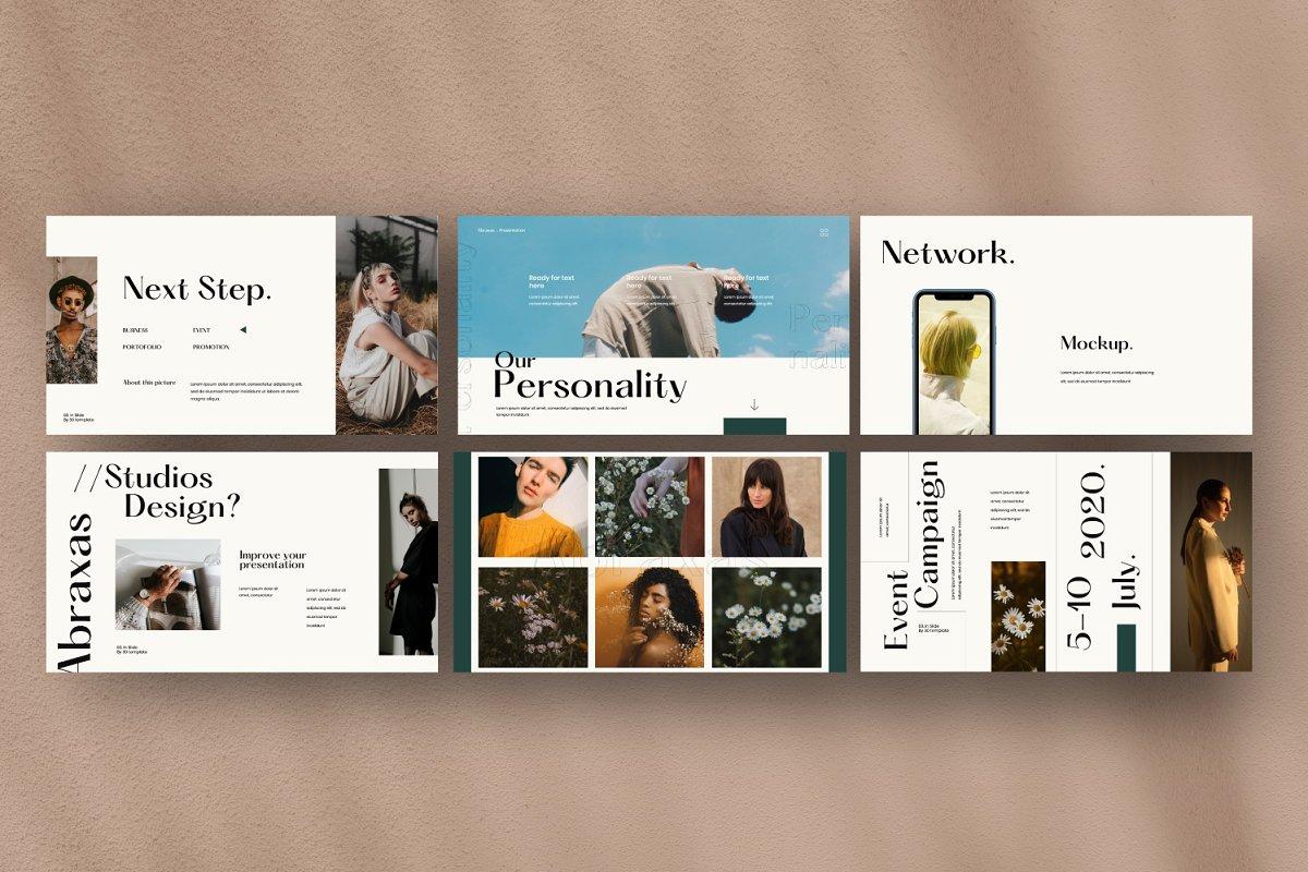 时尚简约服装品牌规范VIS设计幻灯片模板 Abraxas – Brand Guidline Keynote插图(8)