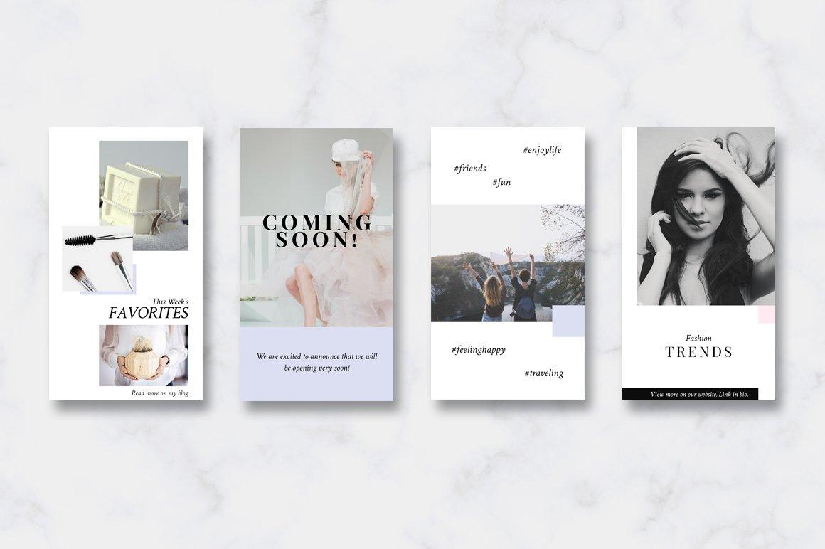 金色/粉色调旅行品牌故事Instagram推广社交媒体设计素材包 ANIMATED Instagram Stories-Pink&Gold插图(3)