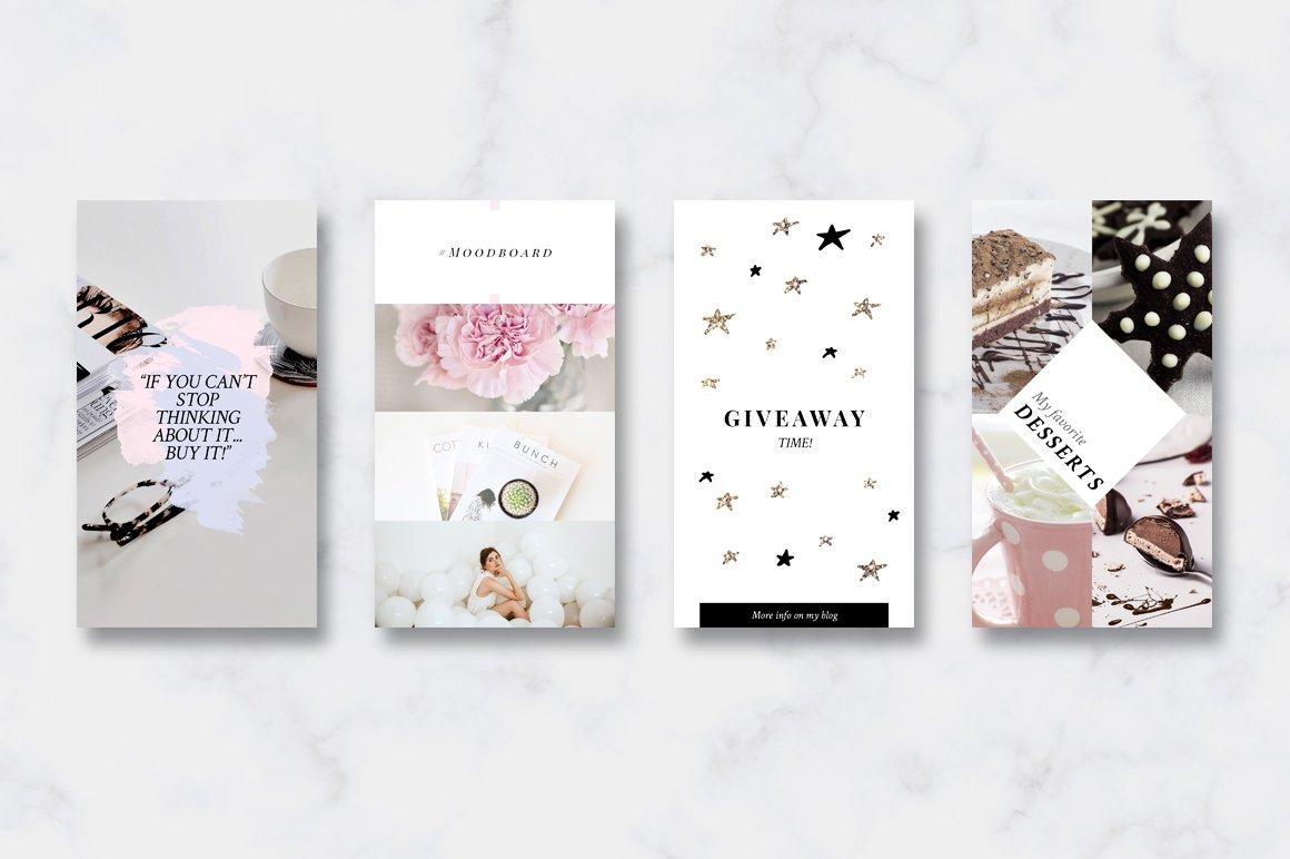 金色/粉色调旅行品牌故事Instagram推广社交媒体设计素材包 ANIMATED Instagram Stories-Pink&Gold插图(4)