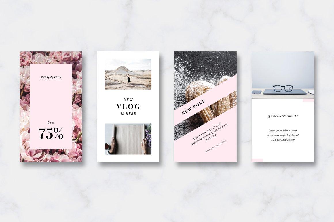 金色/粉色调旅行品牌故事Instagram推广社交媒体设计素材包 ANIMATED Instagram Stories-Pink&Gold插图(5)