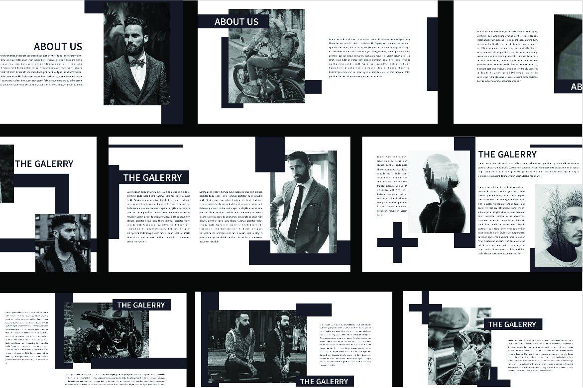 简约时尚PPT幻灯片设计模板 MINIMAL Hipster Black PPT插图(1)