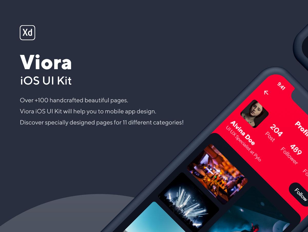 精美小视频直播社交APP应用程序UI/UX界面设计套件 Viora iOS UI Kit插图