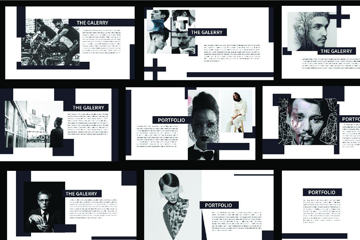 简约时尚PPT幻灯片设计模板 MINIMAL Hipster Black PPT插图(3)
