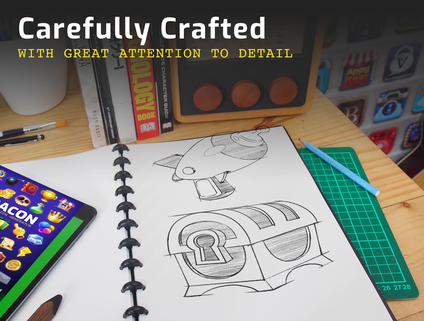 高品质多彩游戏3D图标PS设计素材 DACON – Game Icon Generator插图(6)
