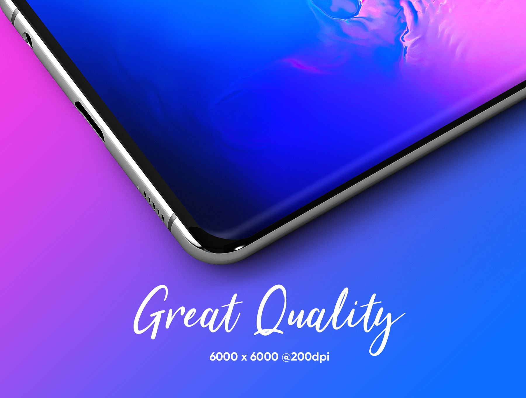 应用程序&网站设计预览三星Galaxy S10样机模板 Samsung Galaxy S10+ Design Mockup 2插图(3)