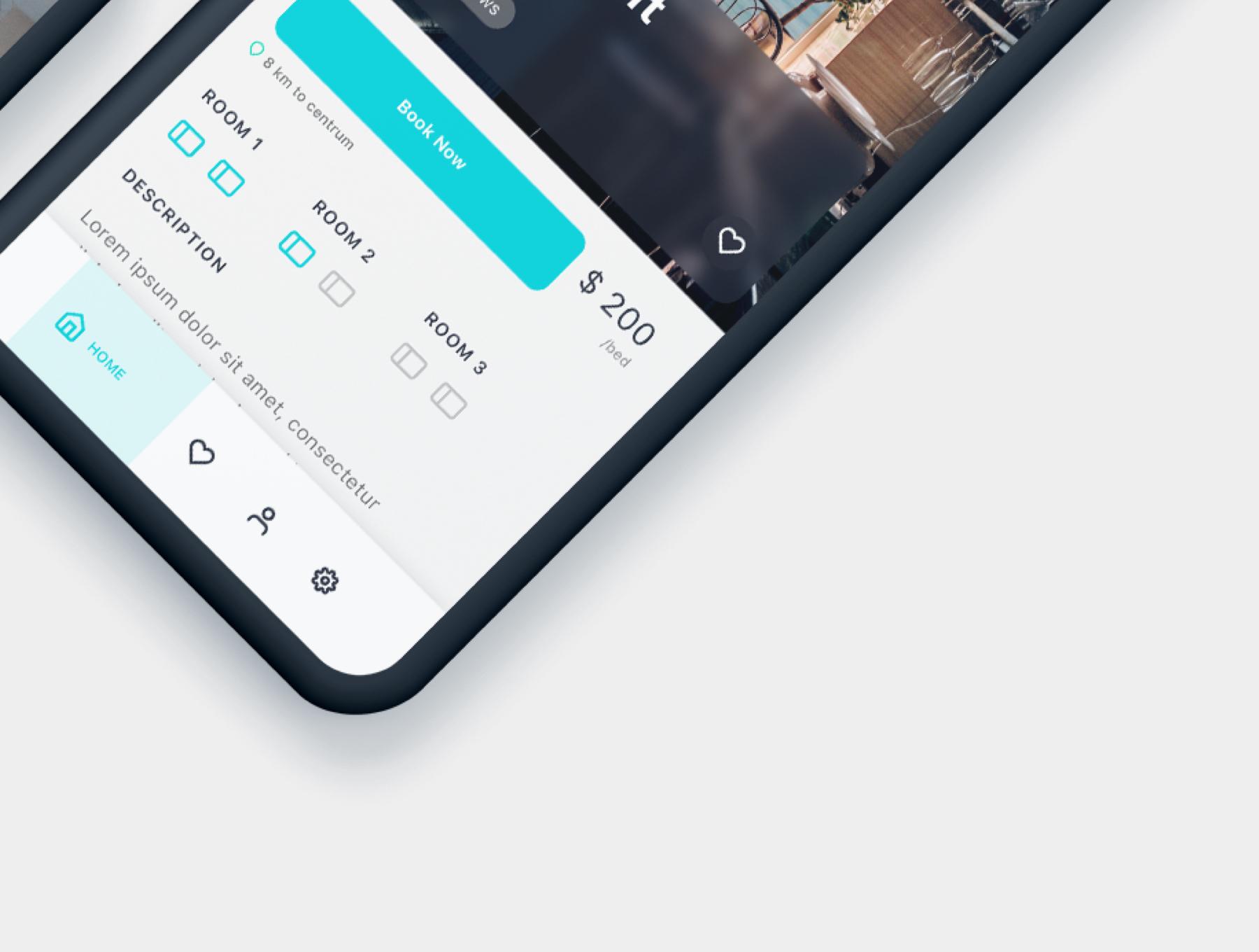 酒店预定APP应用程序UI界面设计套件 Roomate iOS UI Kit插图(9)