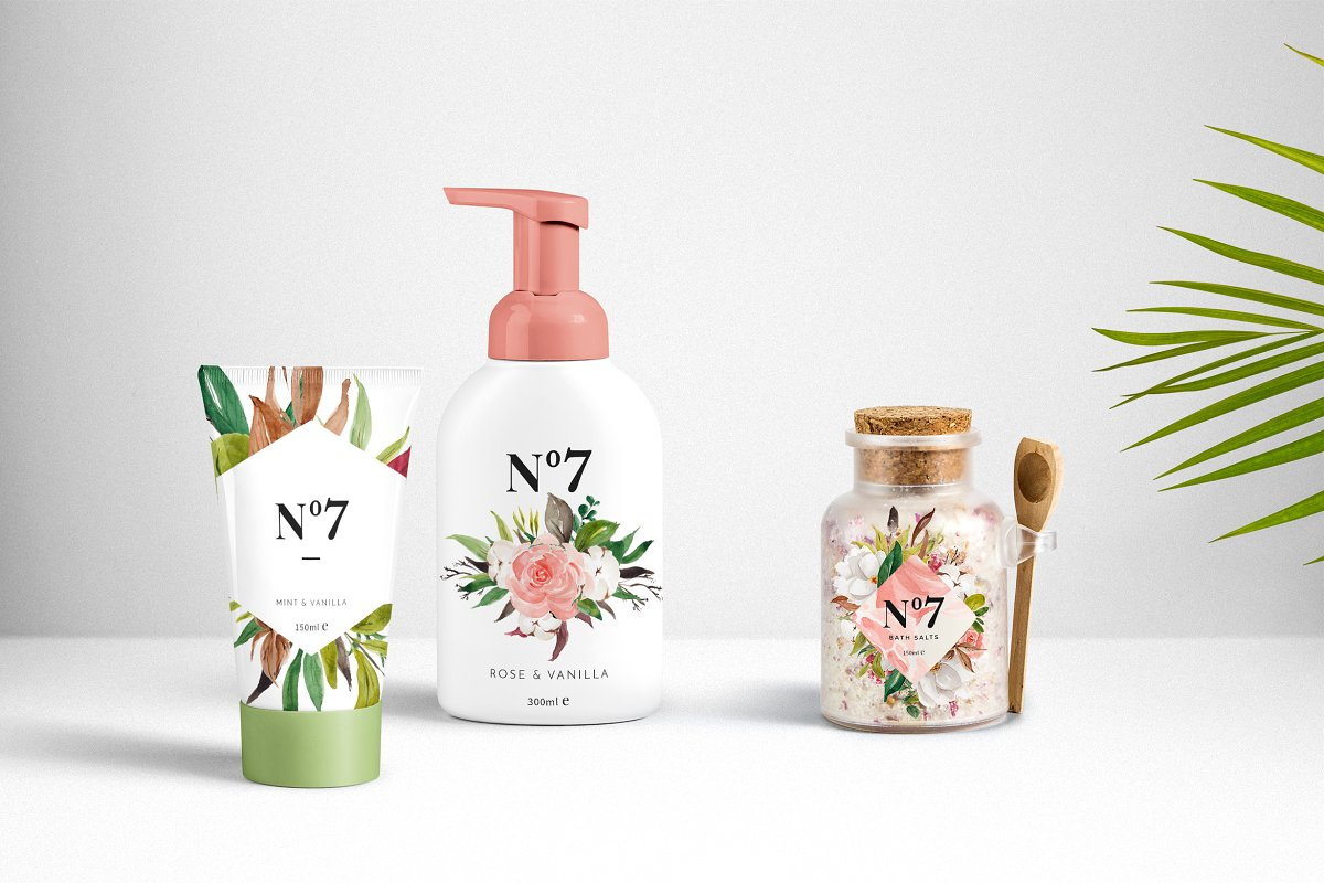 淡雅花卉&树叶水彩插画设计素材包 Floral & Foliage Illustration Pack插图(6)