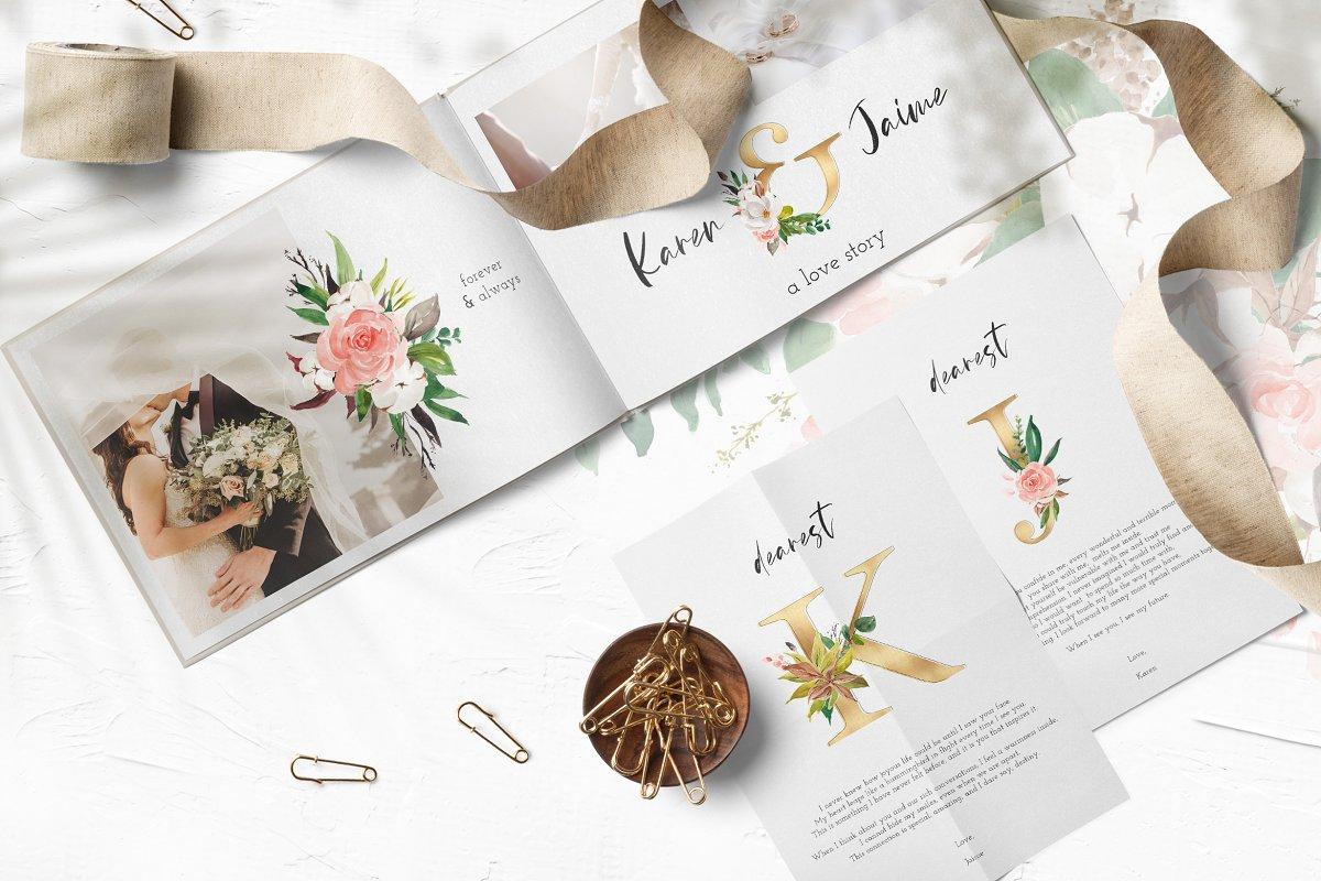 淡雅花卉&树叶水彩插画设计素材包 Floral & Foliage Illustration Pack插图(8)