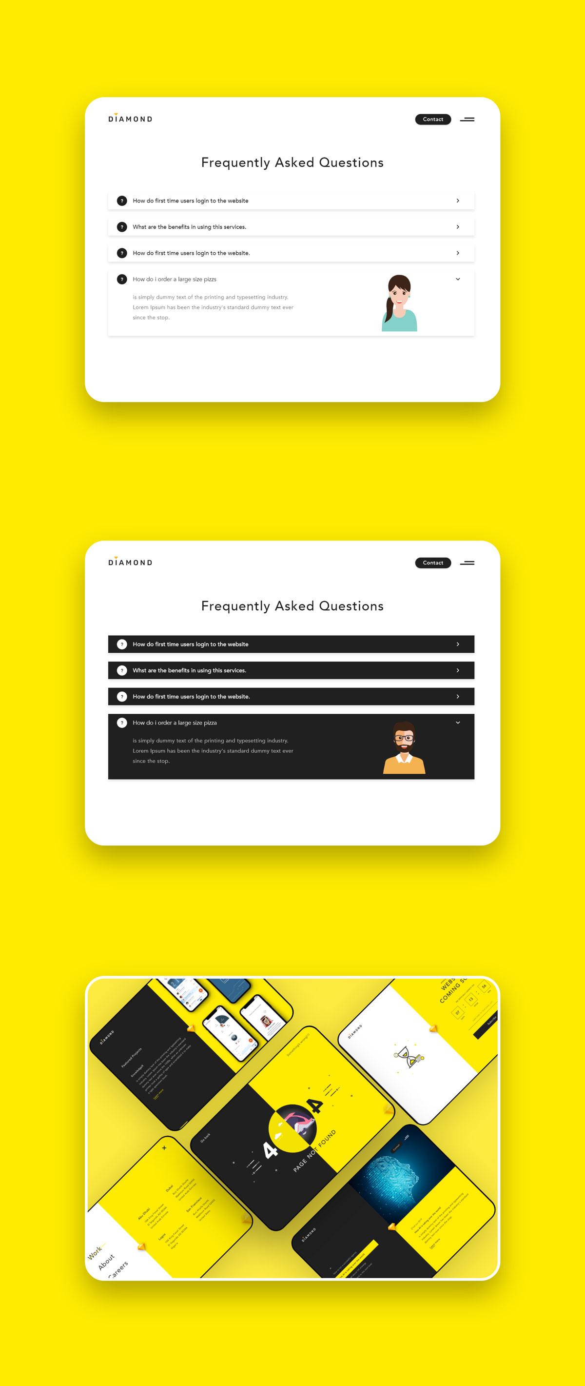 创意简洁公司网站WEB UI界面设计模板套件 Diamond UI Web Template插图(9)