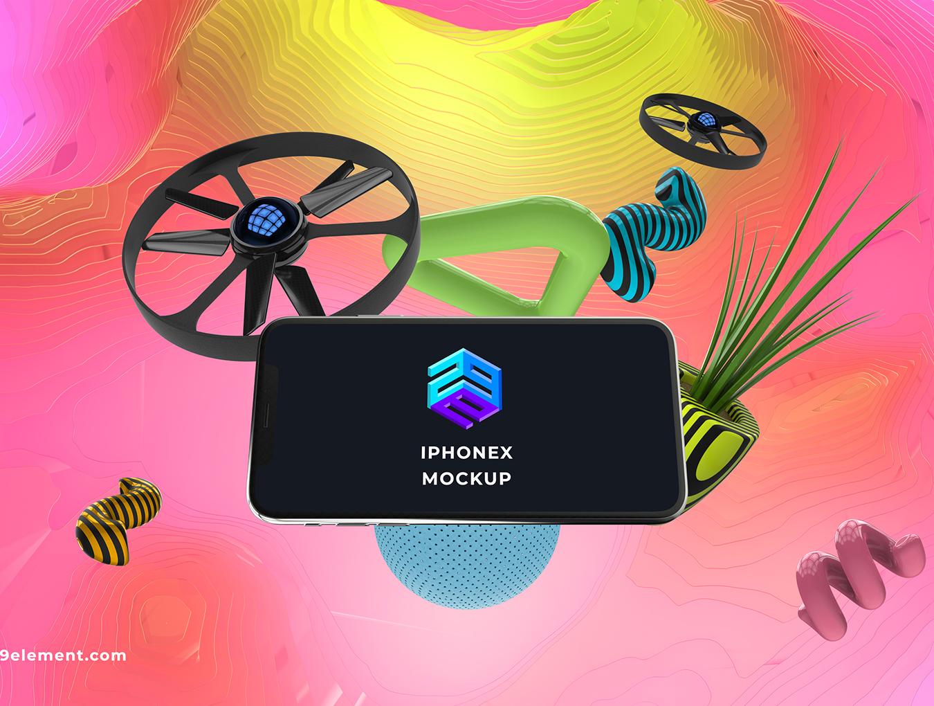 8个应用程序设计预览苹果Apple设备PSD样机模板 8 Concept Apple Devices v.3插图(1)