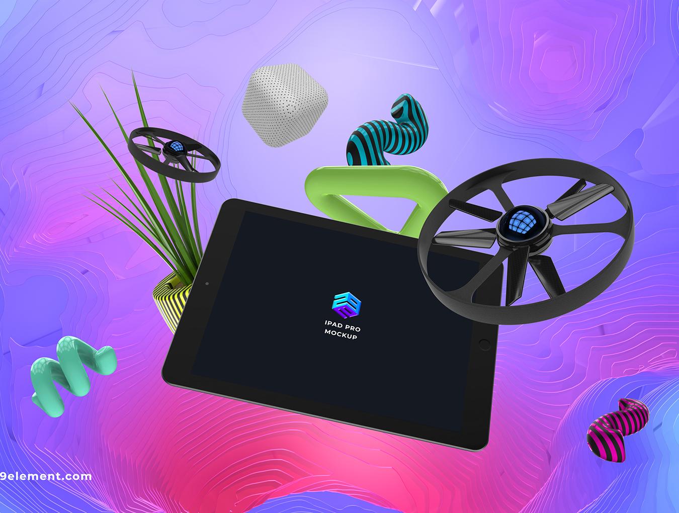 8个应用程序设计预览苹果Apple设备PSD样机模板 8 Concept Apple Devices v.3插图(4)