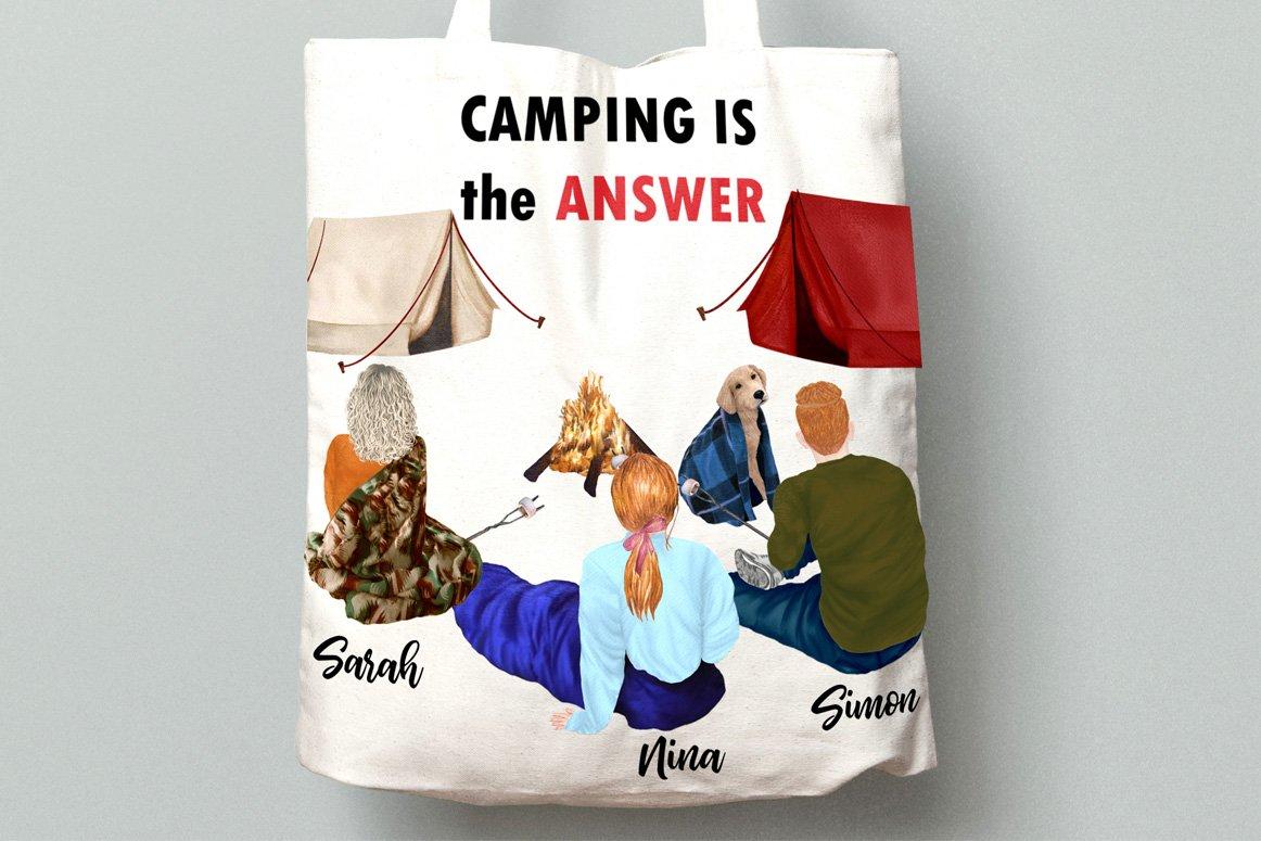高质量情侣人物手绘水彩剪贴画设计素材 Camping clipart People Clipart插图(5)