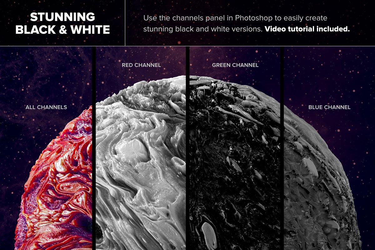 创意抽象纹理系列:抽象行星球状熔岩效果3D形状背景纹理 Planetary: 50 Abstract 3D Shapes插图(3)