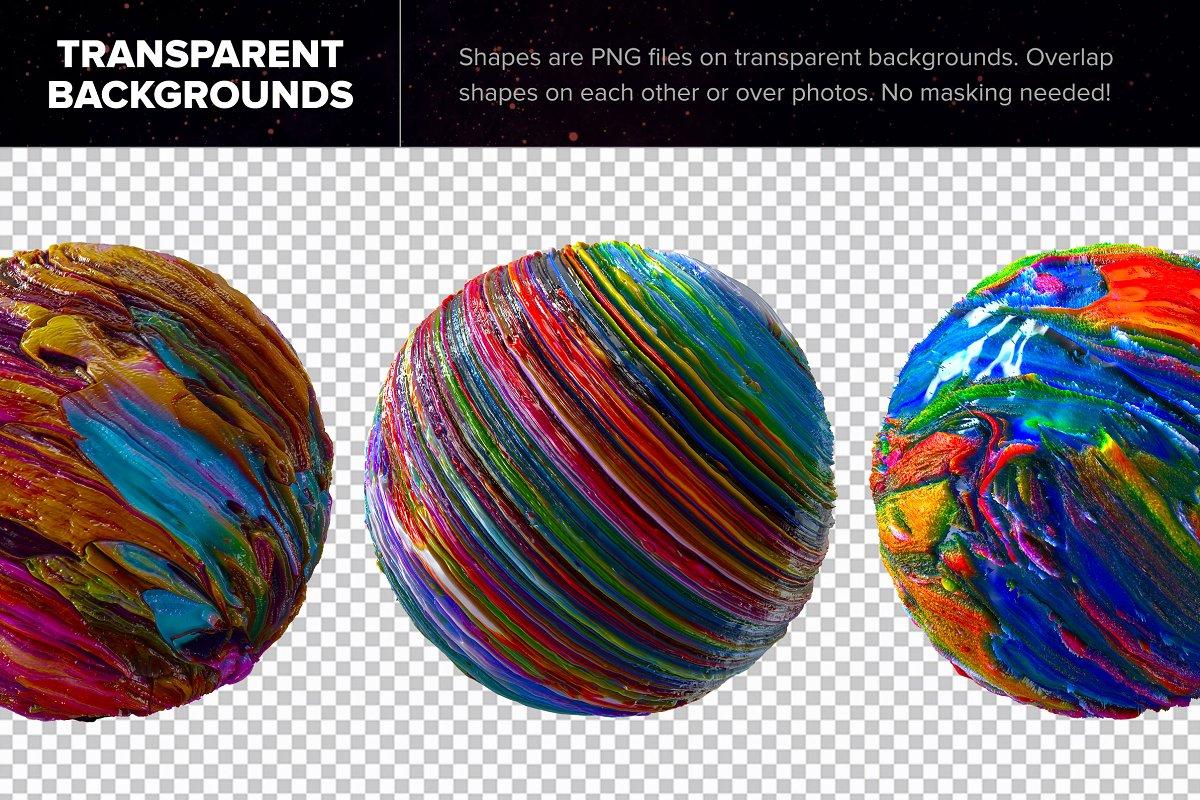 创意抽象纹理系列:抽象行星球状熔岩效果3D形状背景纹理 Planetary: 50 Abstract 3D Shapes插图(5)