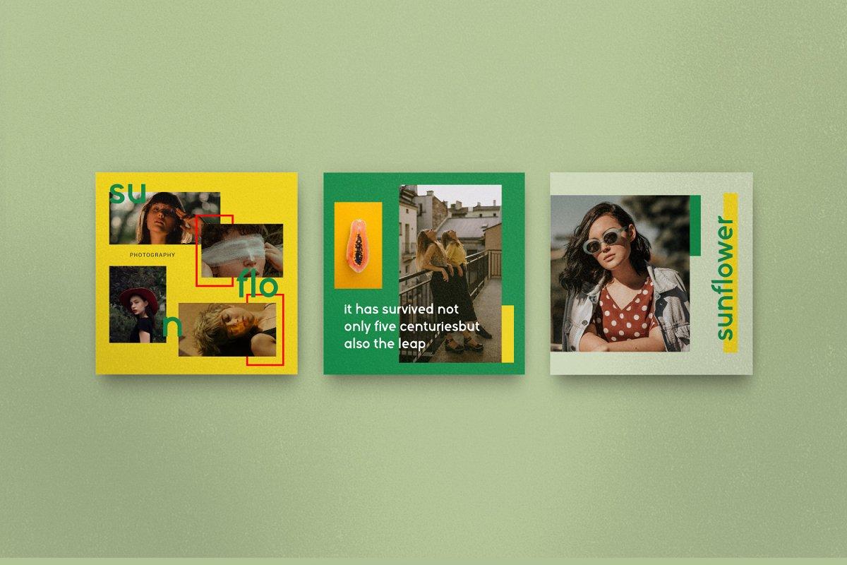 服装品牌故事社交推广设计模板素材包 Sunflower – Social Media Bundle插图(6)