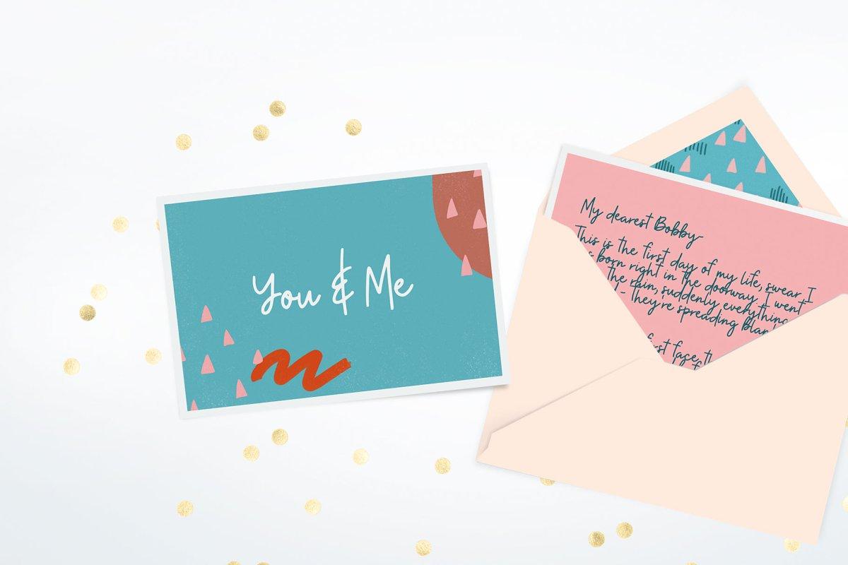 现代情人节贺卡卡片手绘元素设计素材包 Modern Valentine – Design Toolkit插图(2)