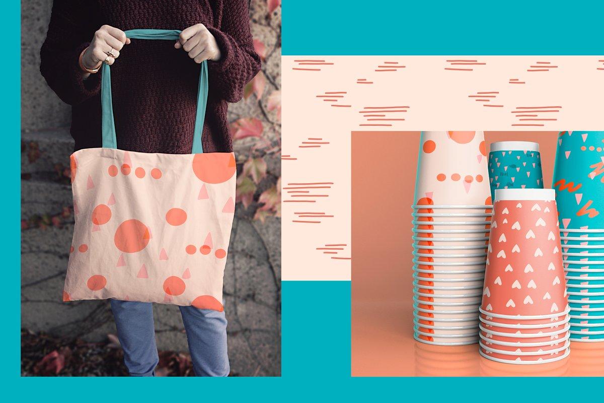 现代情人节贺卡卡片手绘元素设计素材包 Modern Valentine – Design Toolkit插图(4)