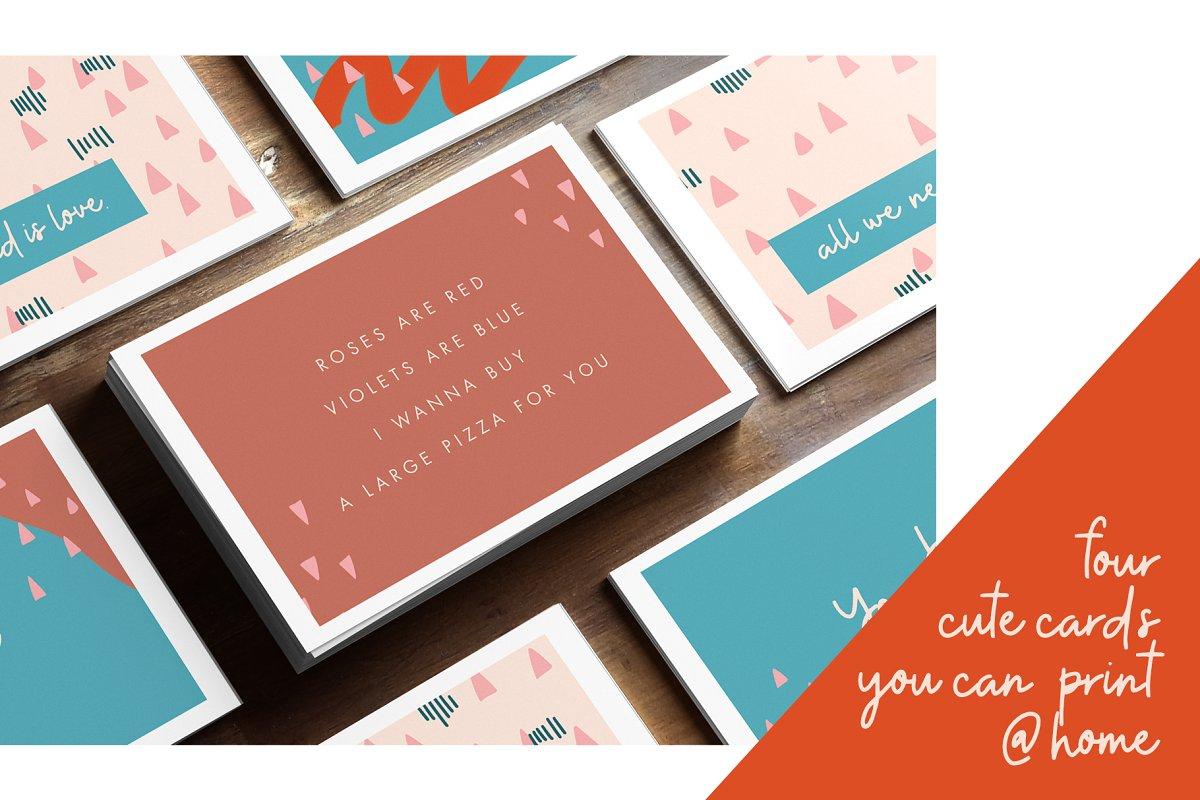 现代情人节贺卡卡片手绘元素设计素材包 Modern Valentine – Design Toolkit插图(5)