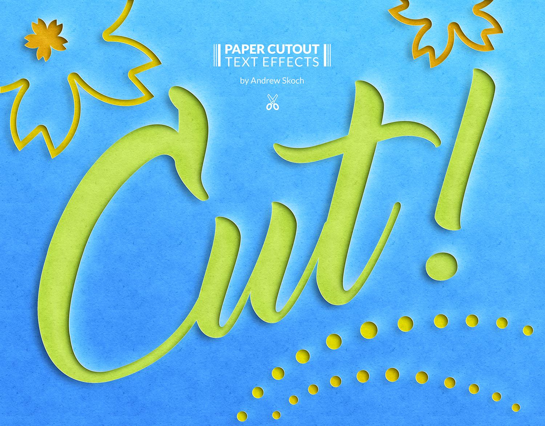 10个逼真剪纸效果文字PS图层样式 Paper Cut Out Text Effect插图