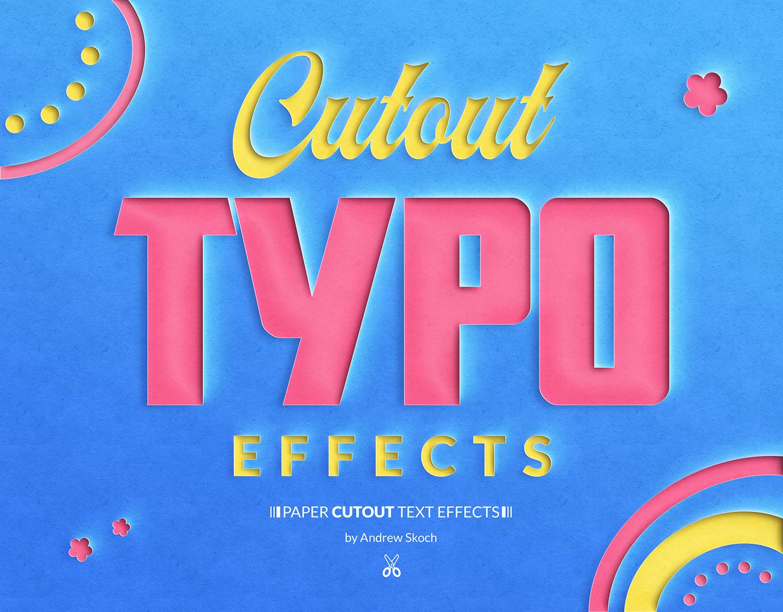 10个逼真剪纸效果文字PS图层样式 Paper Cut Out Text Effect插图(1)