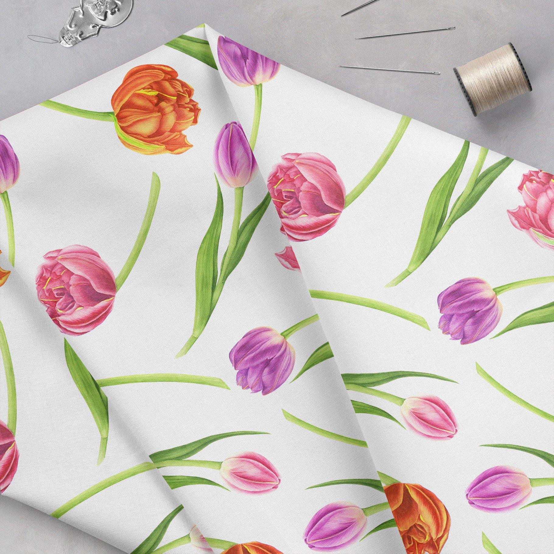 春天郁金香花卉手绘水彩插画集 Spring Flowers Watercolor Patterns插图(4)