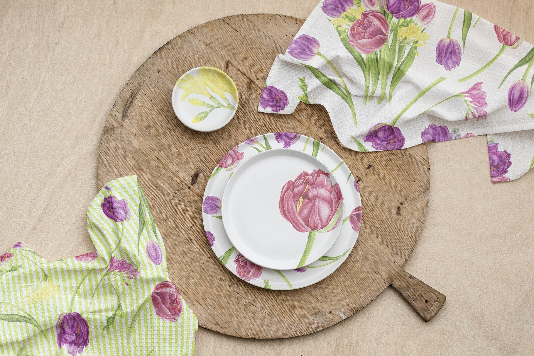 春天郁金香花卉手绘水彩插画集 Spring Flowers Watercolor Patterns插图(6)
