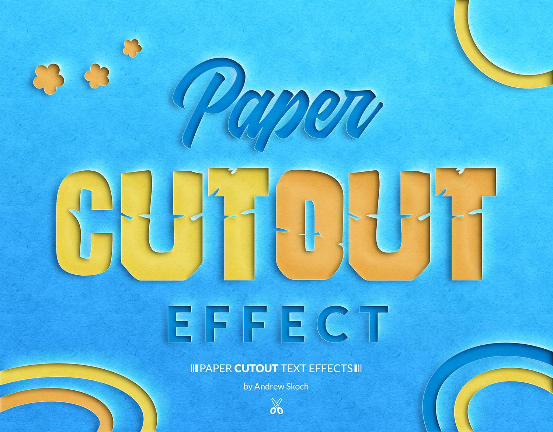 10个逼真剪纸效果文字PS图层样式 Paper Cut Out Text Effect插图(4)