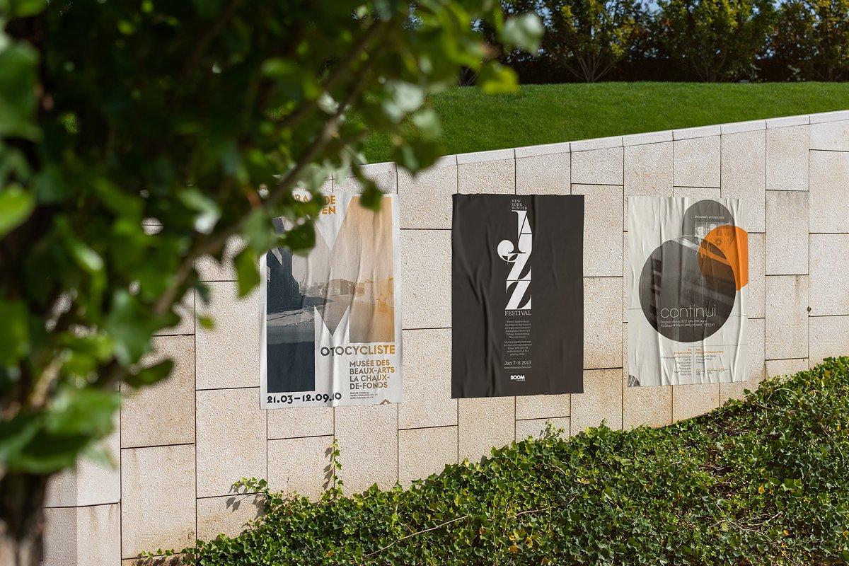 户外墙贴海报传单设计效果图样机模板 Outside Poster Mockup's插图(12)