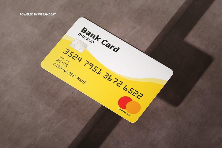 7个高质量银行&会员卡设计展示图样机模板 Bank / Membership Card Mockup插图(12)
