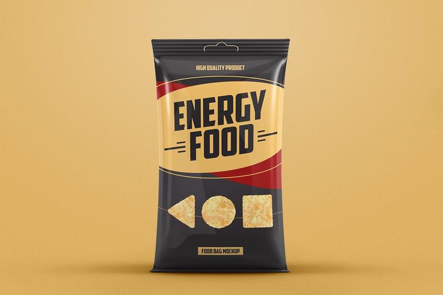 食品薯片包装袋外观设计效果图样机模板 Food Bag Product Mockup插图(1)