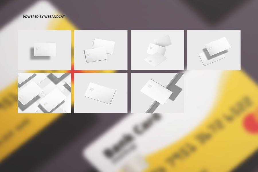 7个高质量银行&会员卡设计展示图样机模板 Bank / Membership Card Mockup插图(2)